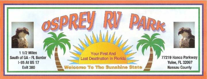 Osprey RV Park Yulee Florida